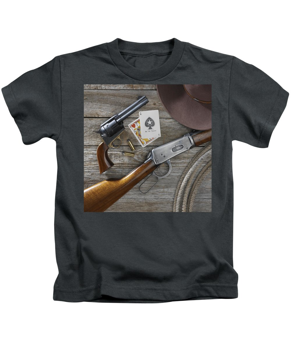 Old West Kids T-Shirt featuring the photograph Tools Of The Trade by Jerry McElroy