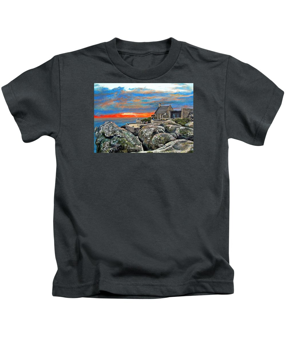 Sunset Kids T-Shirt featuring the painting Top Of Table Mountain by Michael Durst