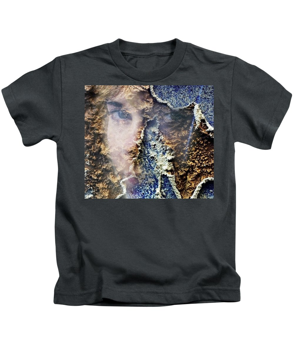 Female Kids T-Shirt featuring the photograph Torn by Skip Hunt