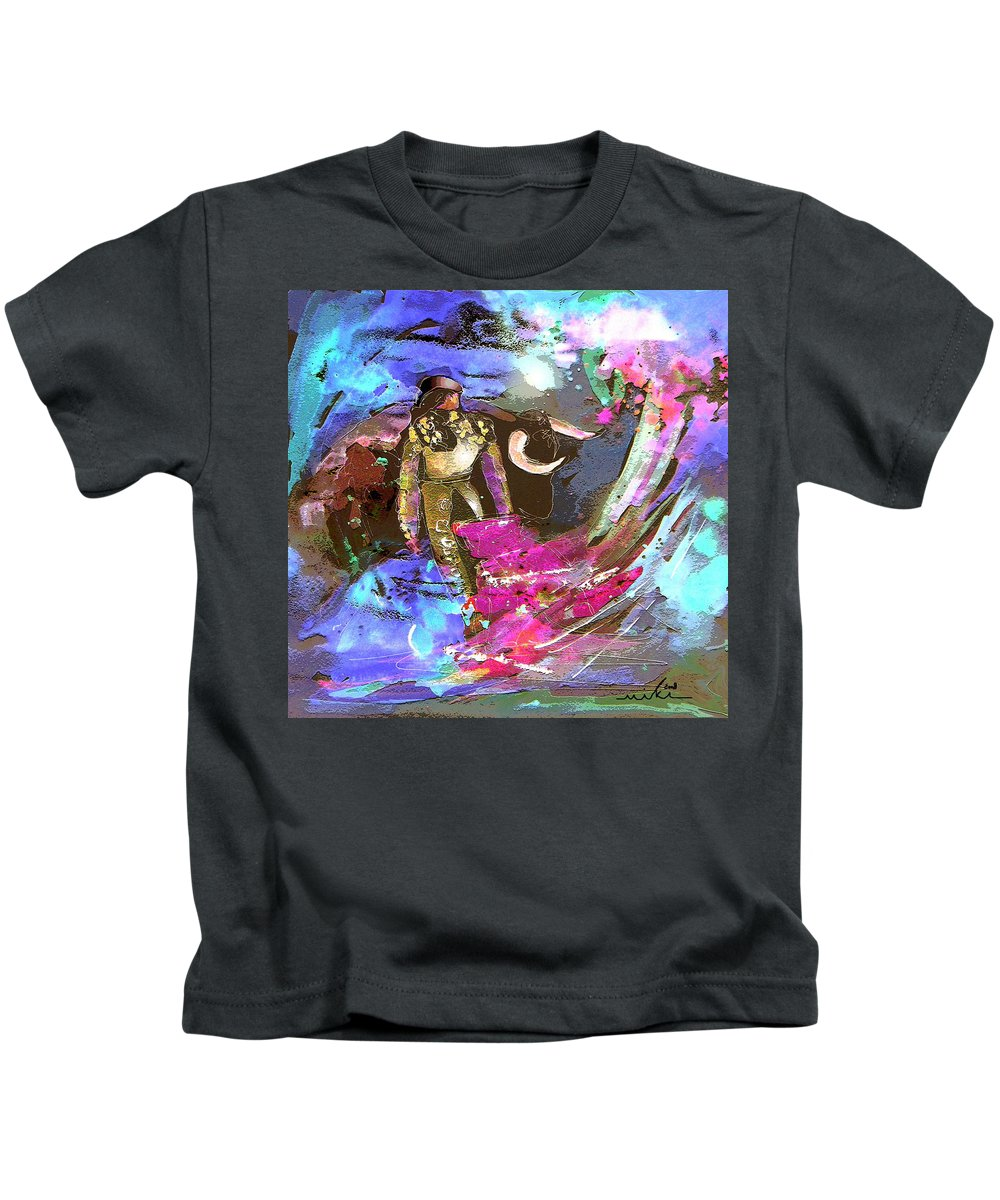Animals Kids T-Shirt featuring the painting Toroscape 07 by Miki De Goodaboom