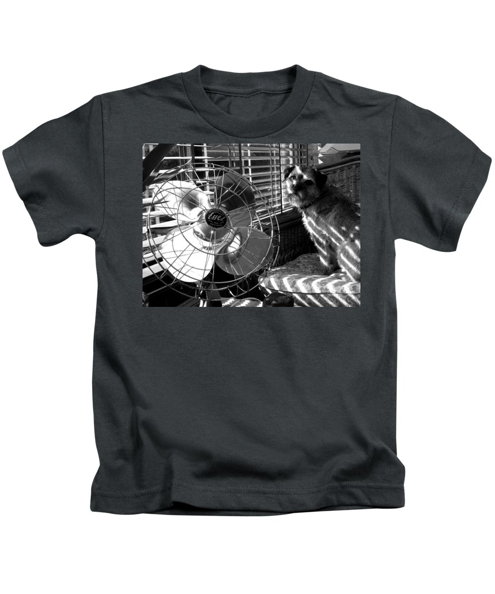 Electric Fan Kids T-Shirt featuring the photograph Toto Checks In by Charles Stuart