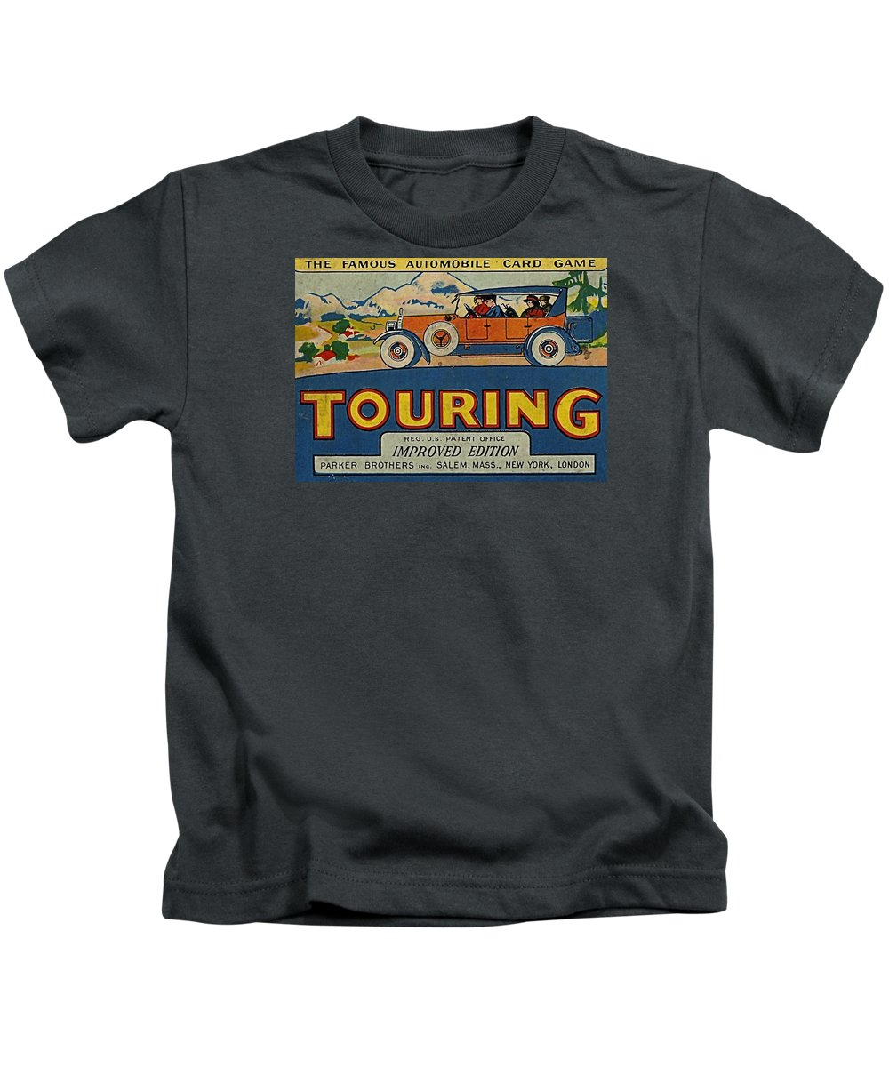 Touring Game Kids T-Shirt featuring the digital art Touring by Newwwman