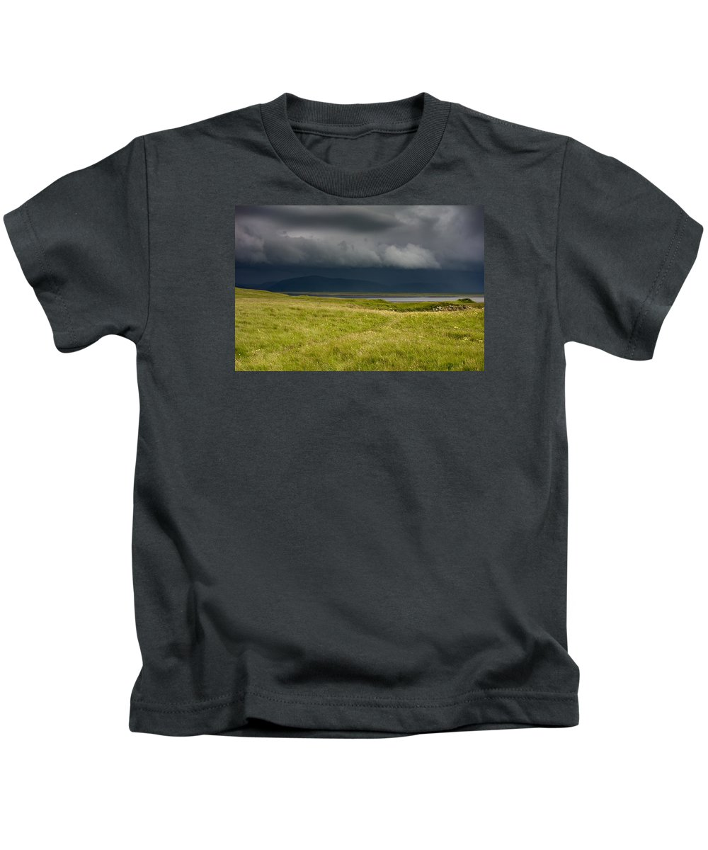 Dyrh�laey Kids T-Shirt featuring the photograph Towards Vatnajokull by Claudio Bergero