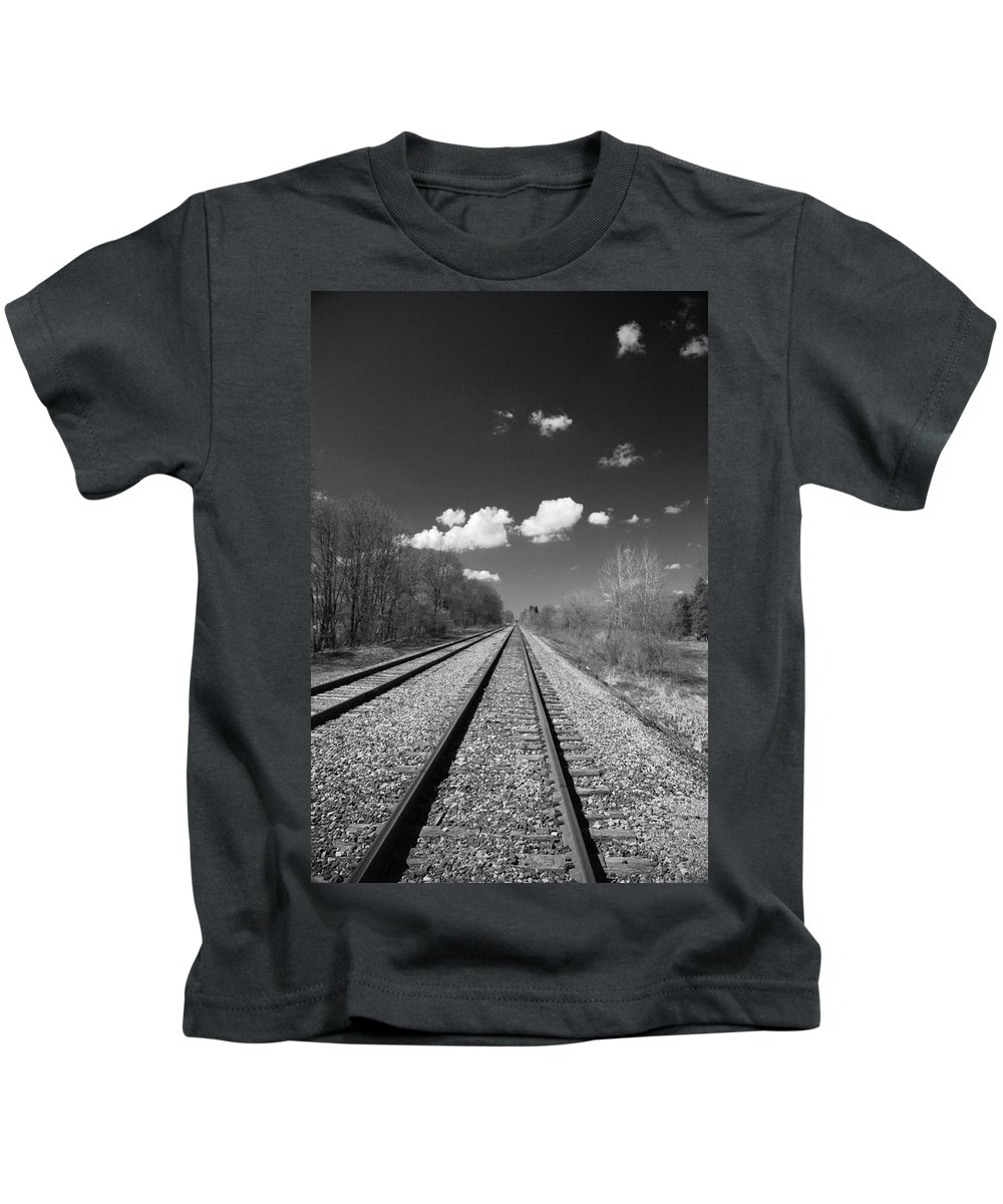 Railroad Kids T-Shirt featuring the photograph Tracks To Nowhere 1520 by Guy Whiteley
