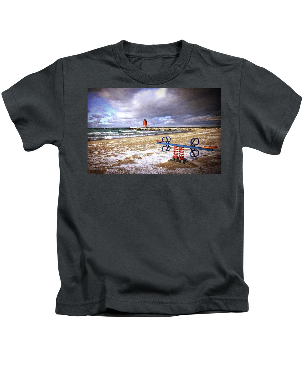 Michigan Kids T-Shirt featuring the photograph Transition Of Seasons by LuAnn Griffin