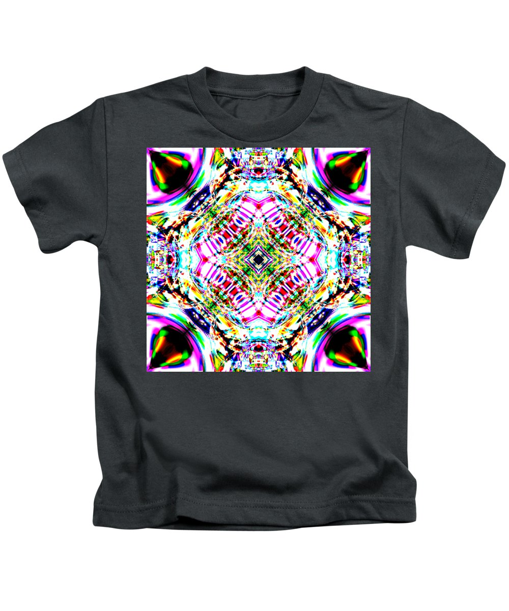 Abstract Kids T-Shirt featuring the digital art Transitor by Blind Ape Art