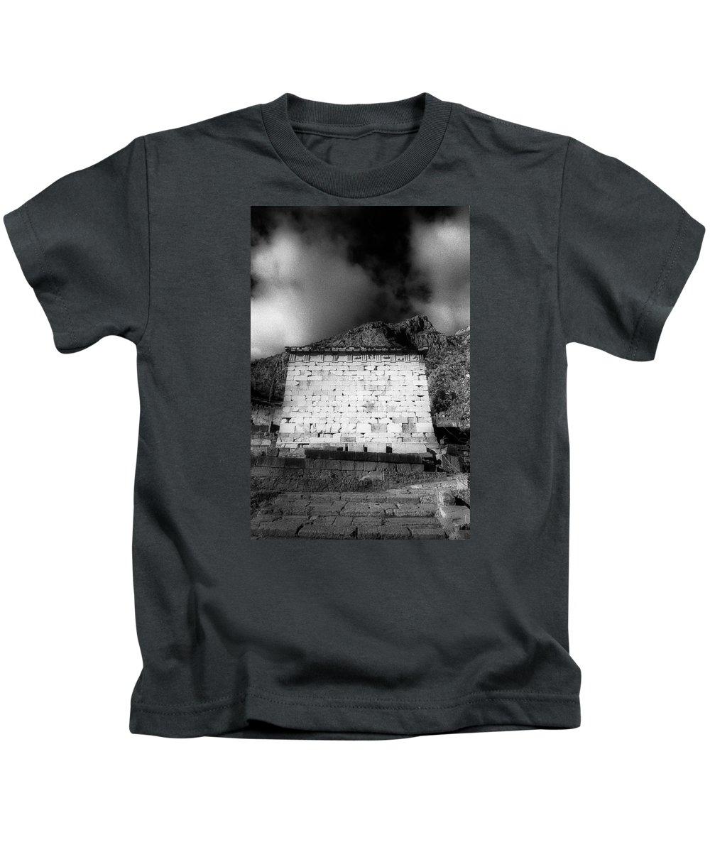 Treasury Athenians Kids T-Shirt featuring the photograph Treasury Of Athenians by Andonis Katanos