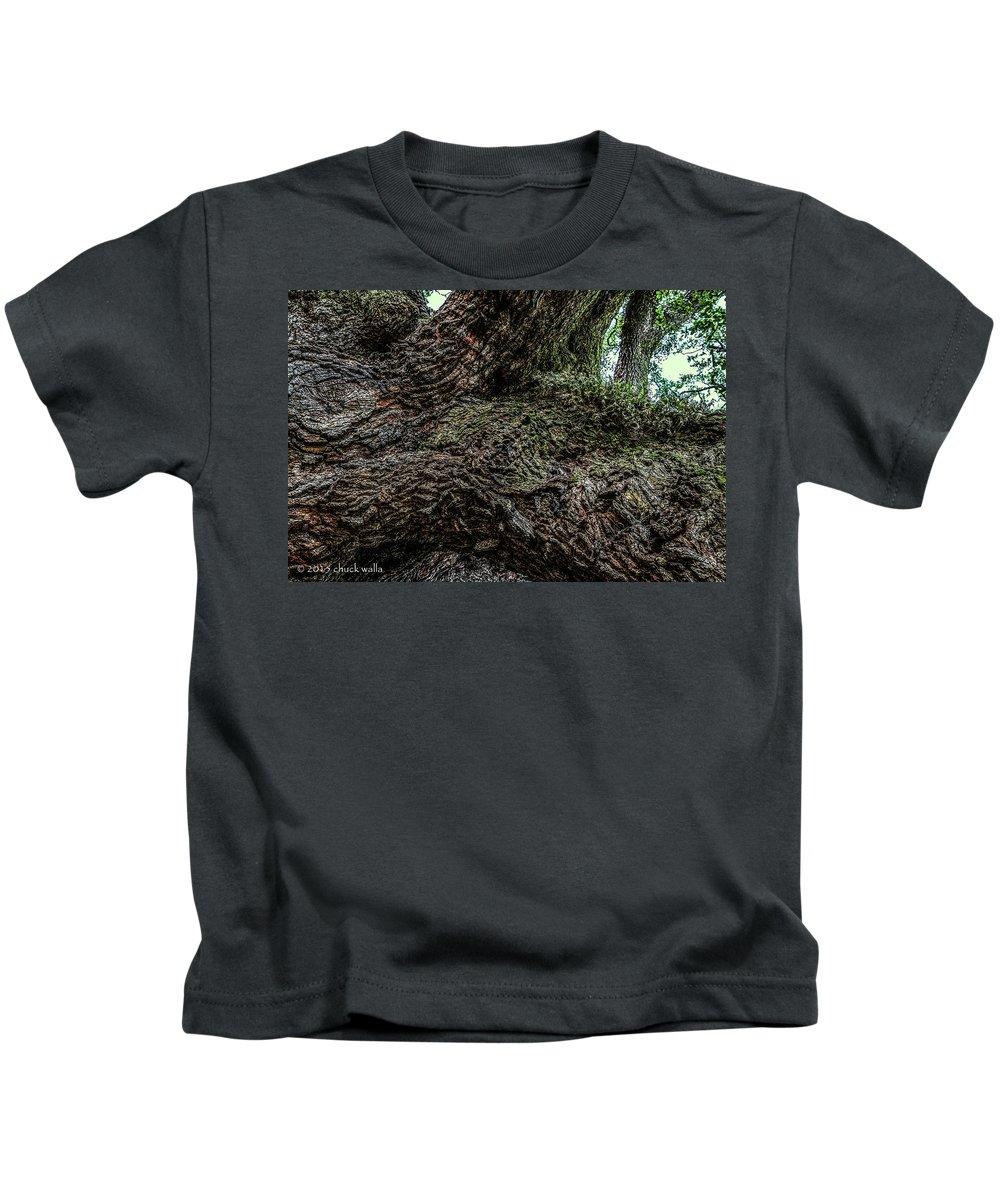 Jacksonville Florida Kids T-Shirt featuring the photograph Treaty Oak 12 14 2015 042 by Chuck Walla