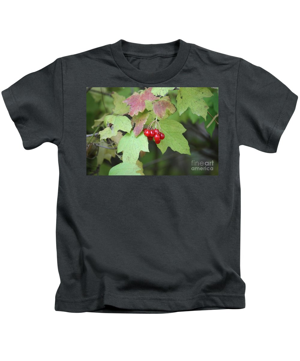 Tree Kids T-Shirt featuring the photograph Tree With Red Berry by Brook Steed