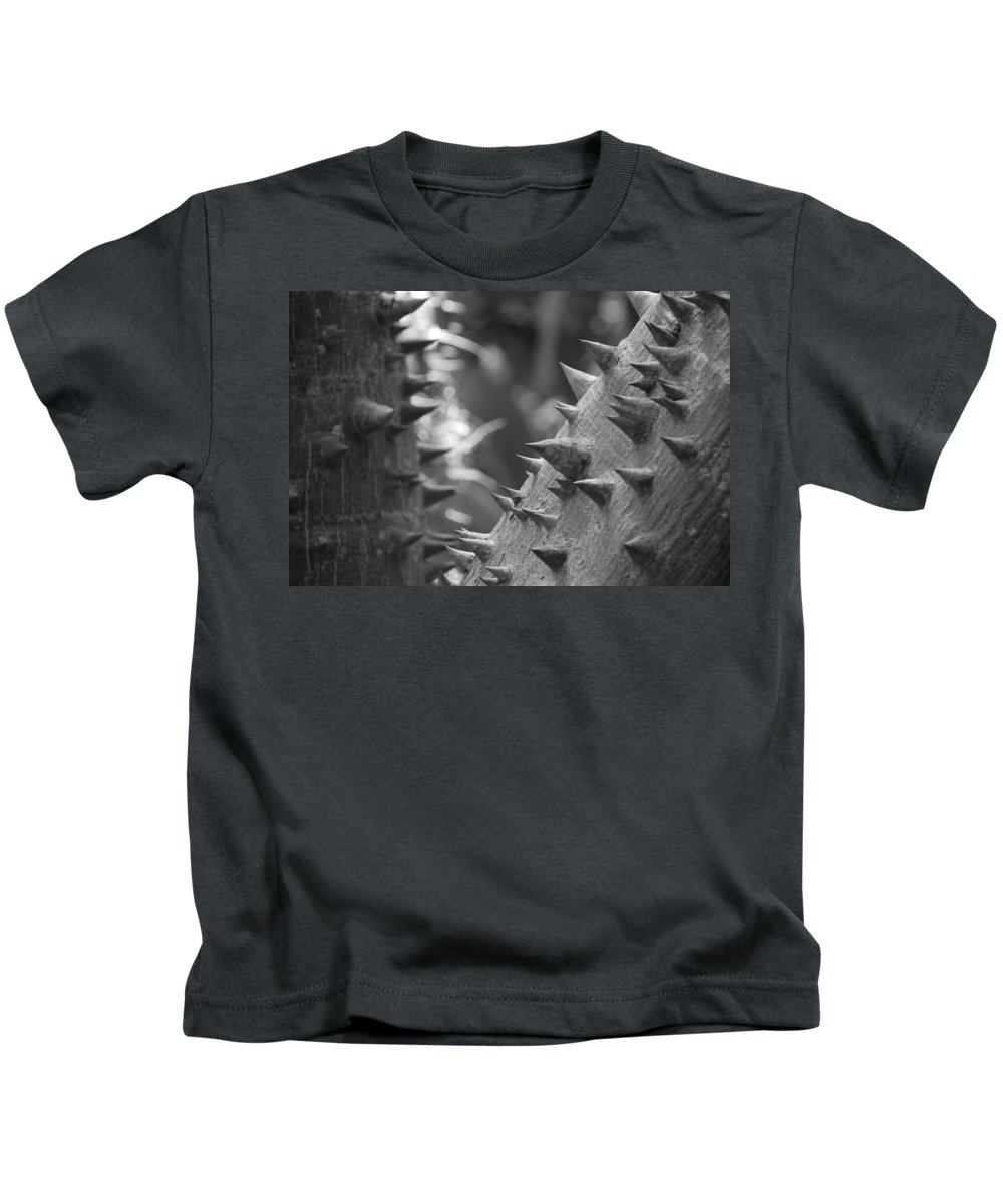 Spike Kids T-Shirt featuring the photograph Tree With Spikes And Thorns by Rob Hans