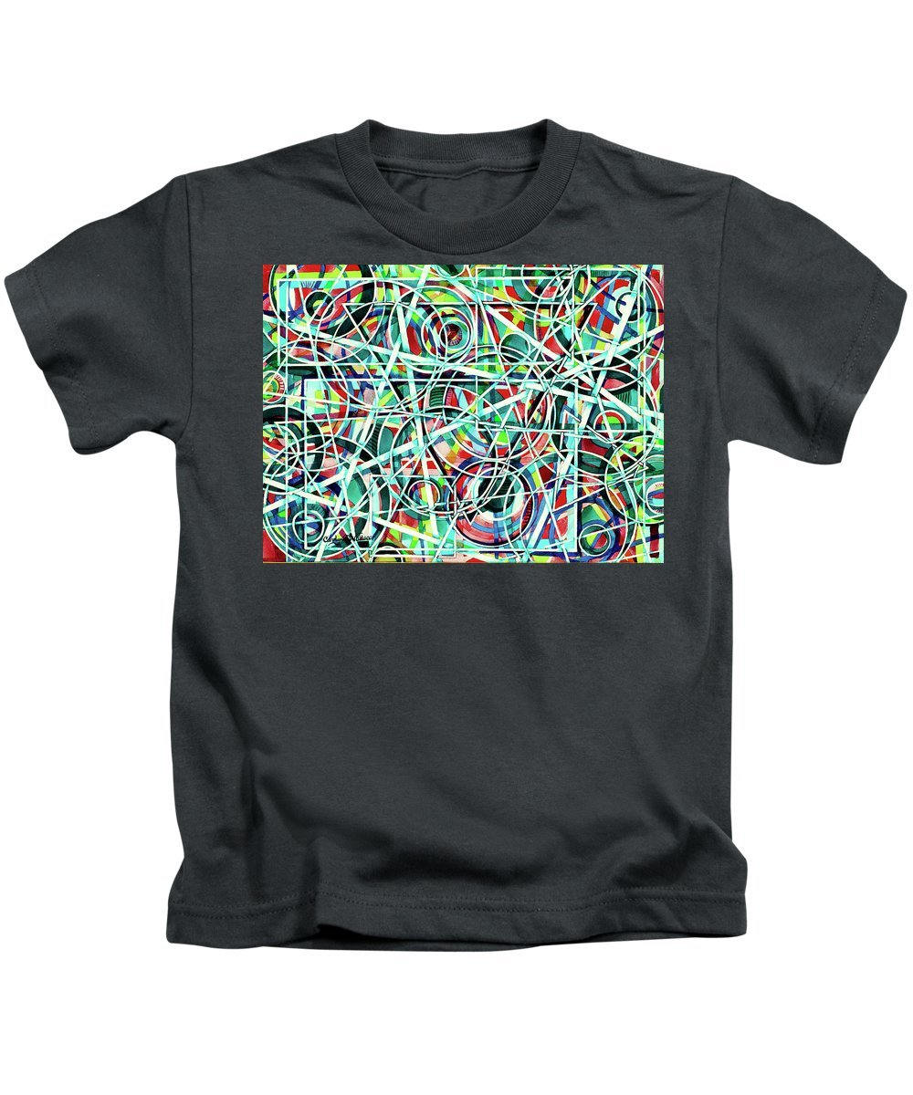 Original Art Kids T-Shirt featuring the painting Triangle Interlacing by Carolyn Coffey Wallace