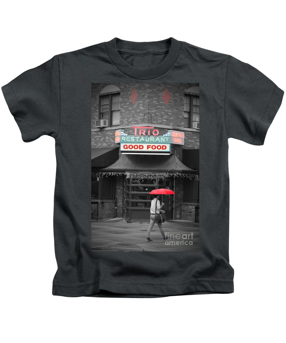 Trio Kids T-Shirt featuring the photograph Trio Restaurant by Jost Houk