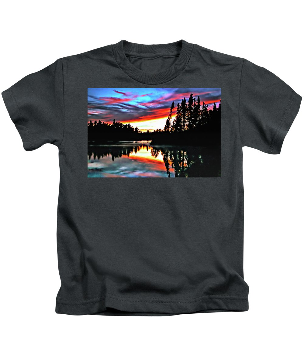 Photo Kids T-Shirt featuring the photograph Tripping by Steve Harrington