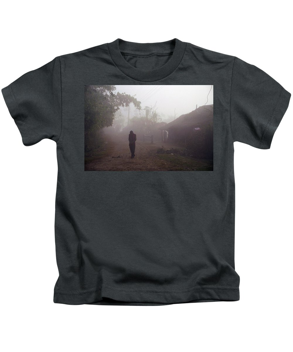 Nepal Kids T-Shirt featuring the photograph Tristesse by Patrick Klauss