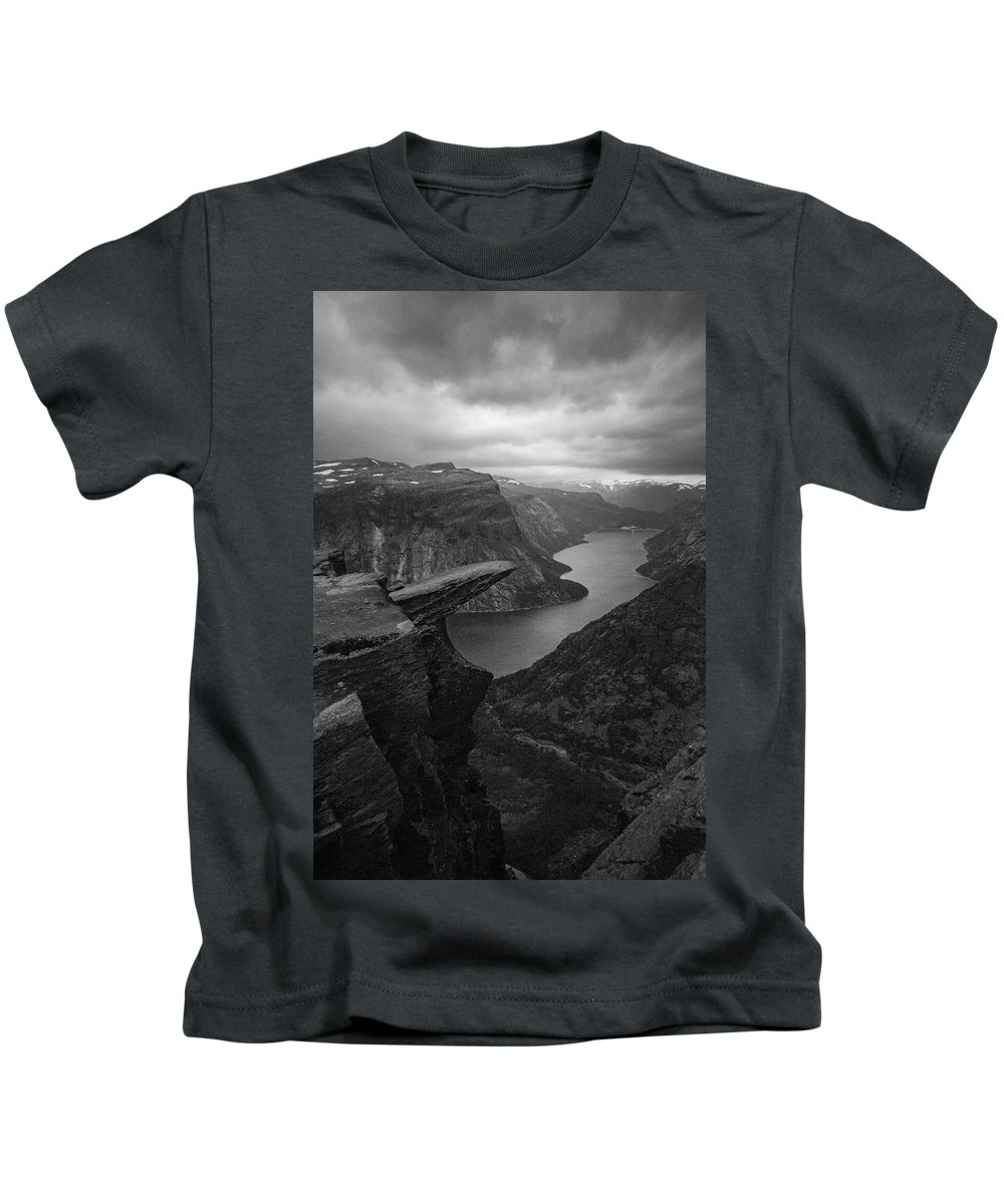 Landscape Kids T-Shirt featuring the photograph Trolltunga In Morning Light by Harvey Simon