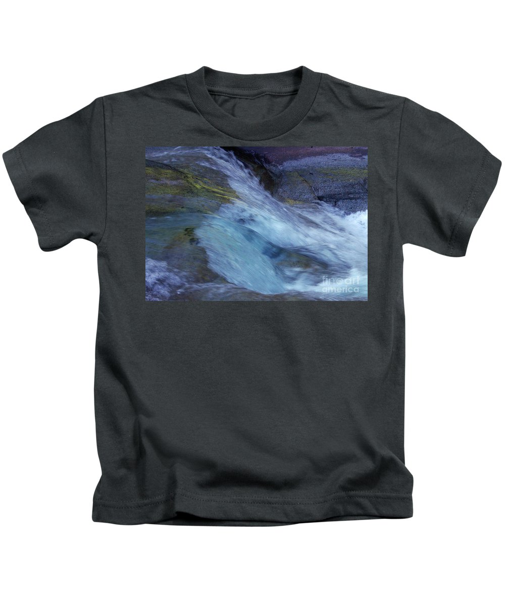 Nature Kids T-Shirt featuring the photograph Tropical Flowing Waters by Kerryn Madsen- Pietsch