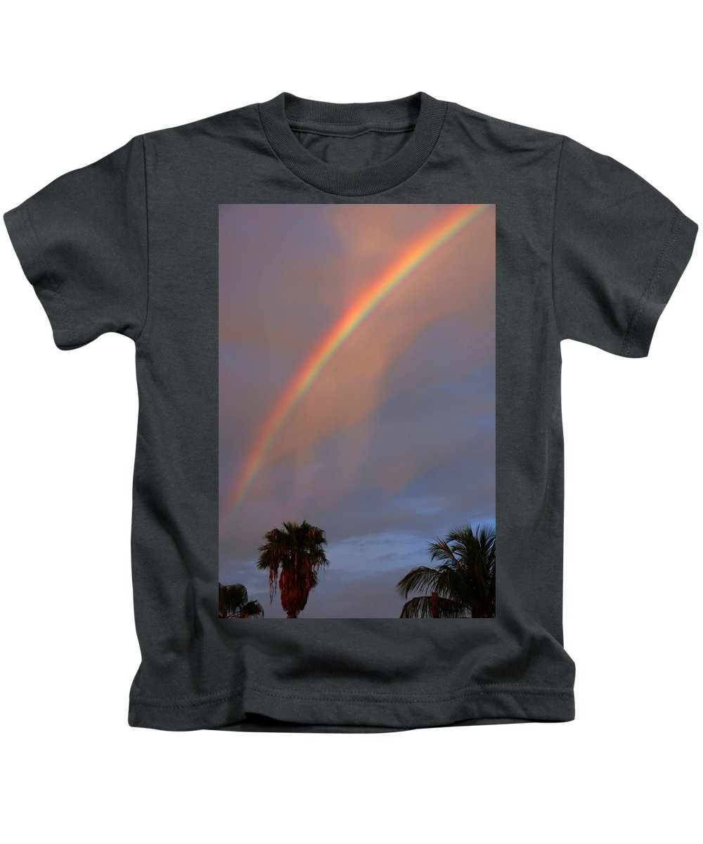 Photography Kids T-Shirt featuring the photograph Tropical Rainbow by Susanne Van Hulst