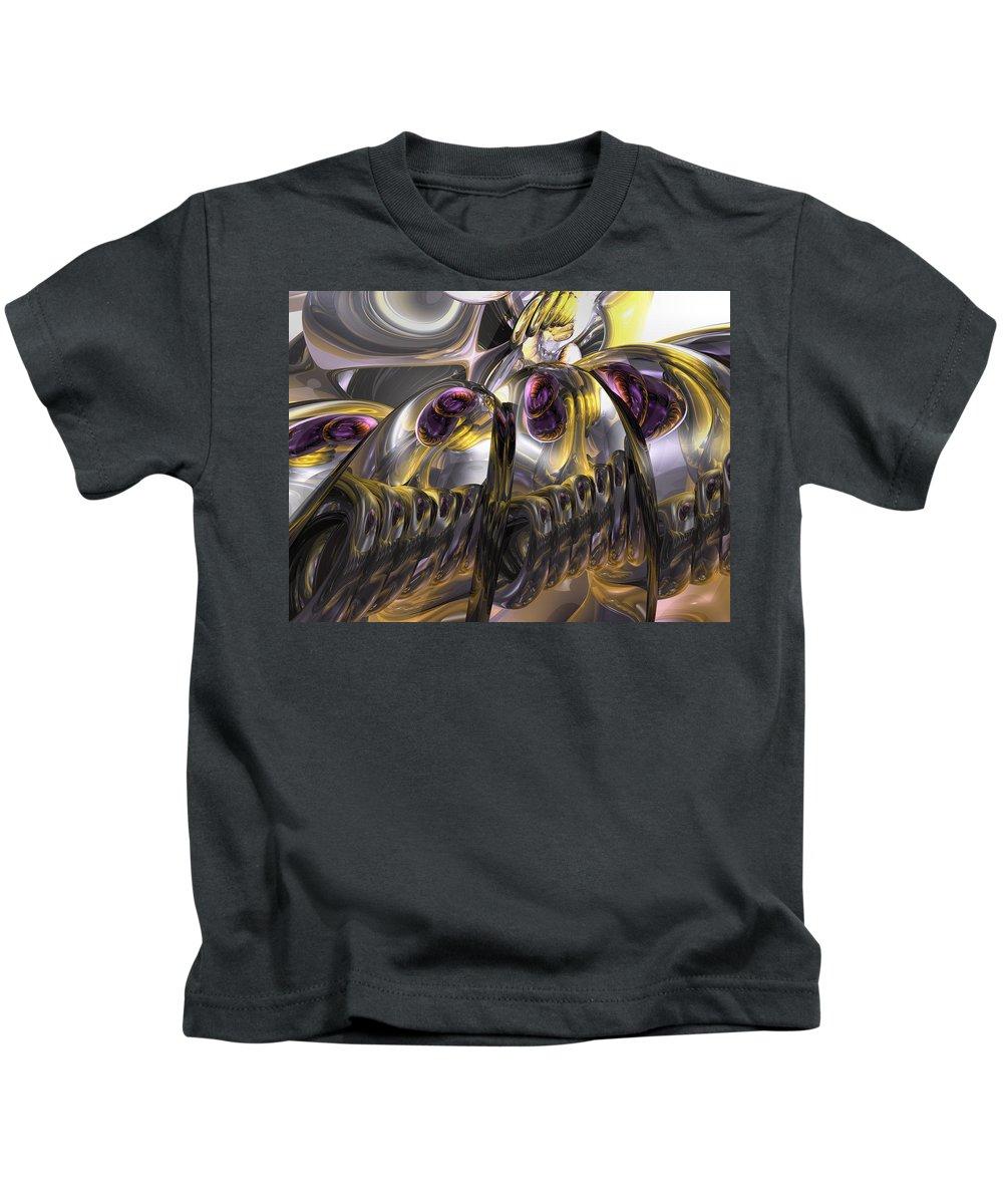 3d Kids T-Shirt featuring the digital art Tropical Wind Abstract by Alexander Butler