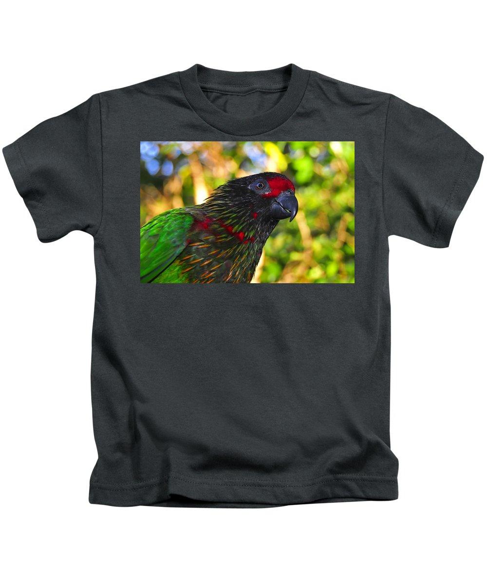 Bird Kids T-Shirt featuring the photograph Tropical Wonder by David Lee Thompson