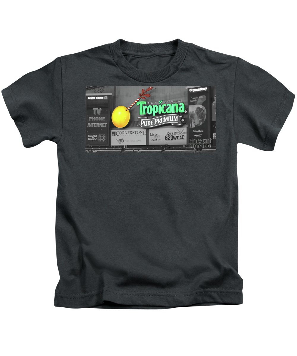 Tropicana Kids T-Shirt featuring the photograph Tropicana Field by Jost Houk