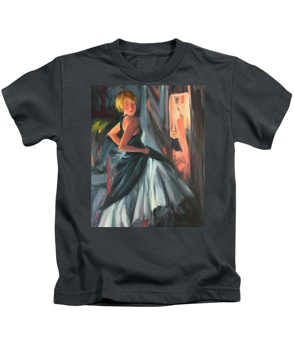 Loose Kids T-Shirt featuring the painting Trying It On by Connie Schaertl