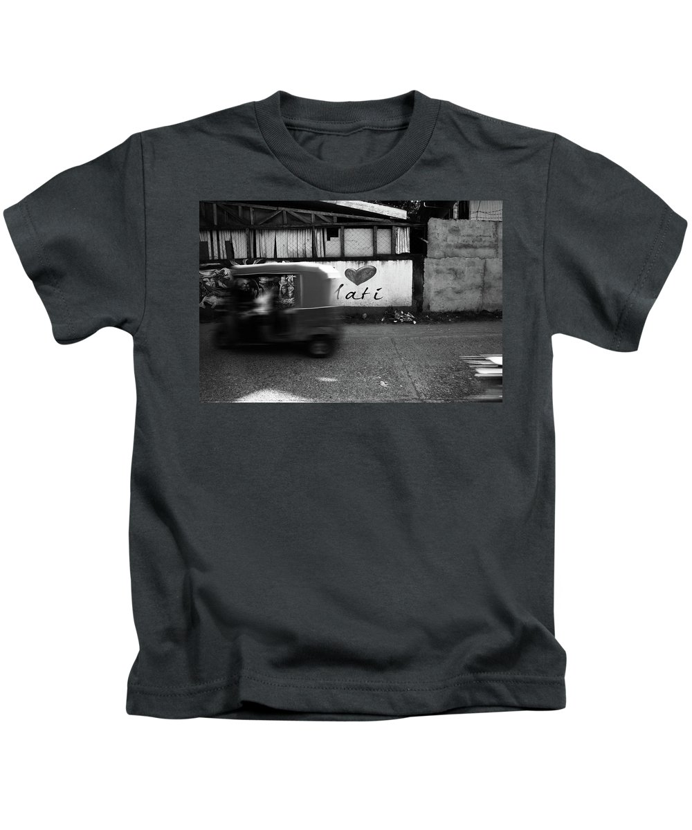 Mati Kids T-Shirt featuring the photograph Tuk Off by Jez C Self