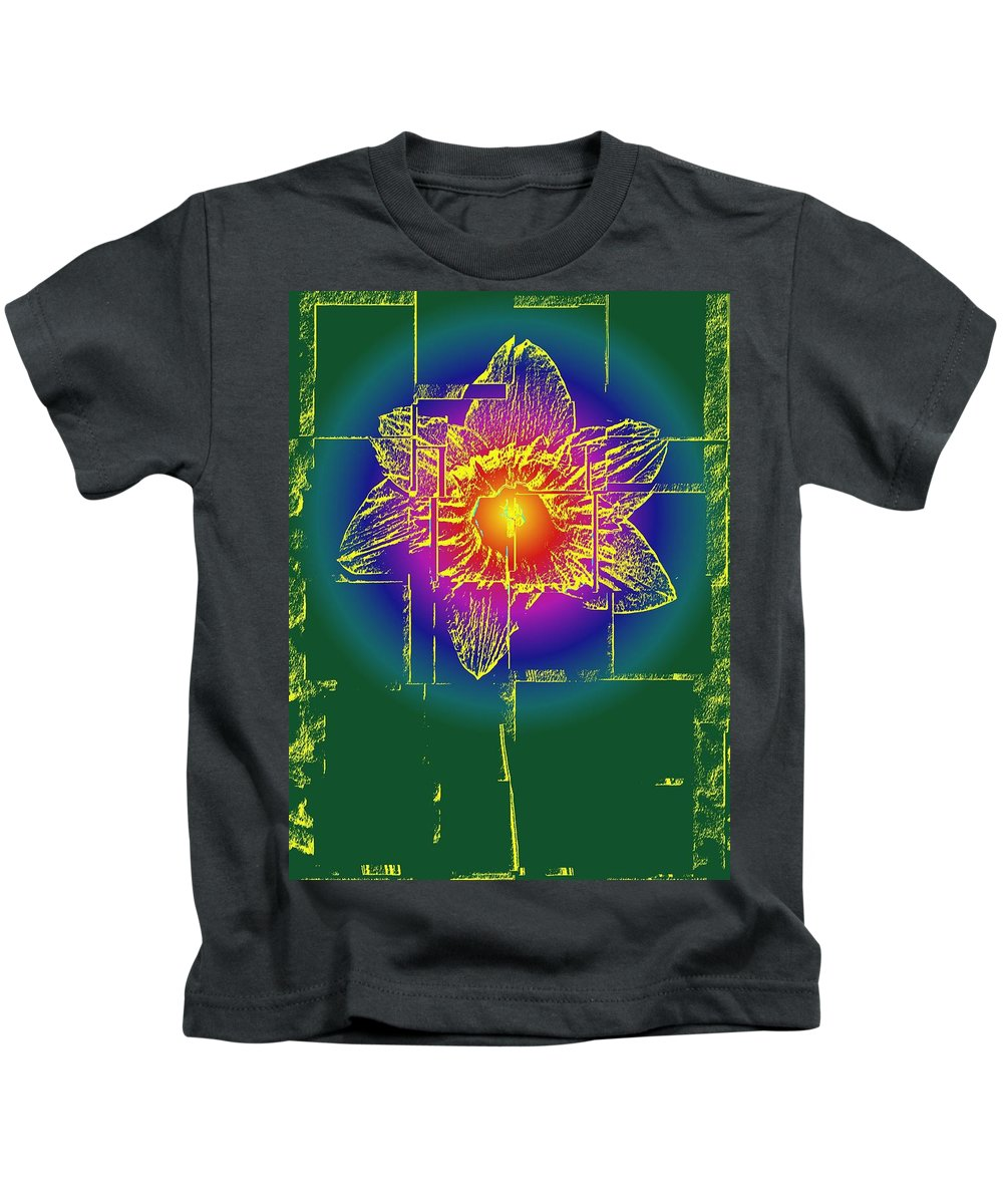 Tulip Kids T-Shirt featuring the digital art Tulip by Tim Allen