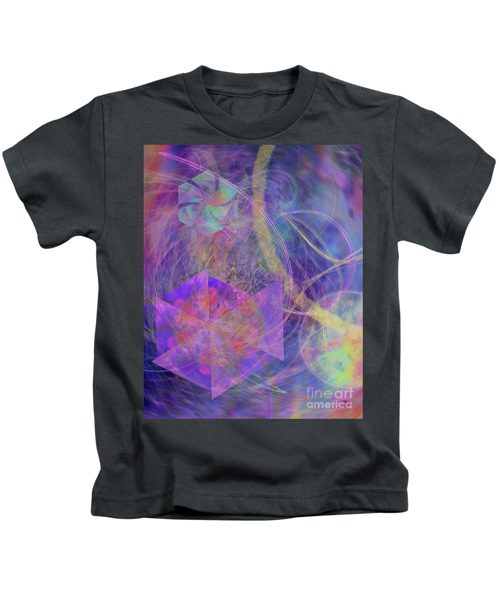 Turbo Blue Kids T-Shirt featuring the digital art Turbo Blue by John Beck