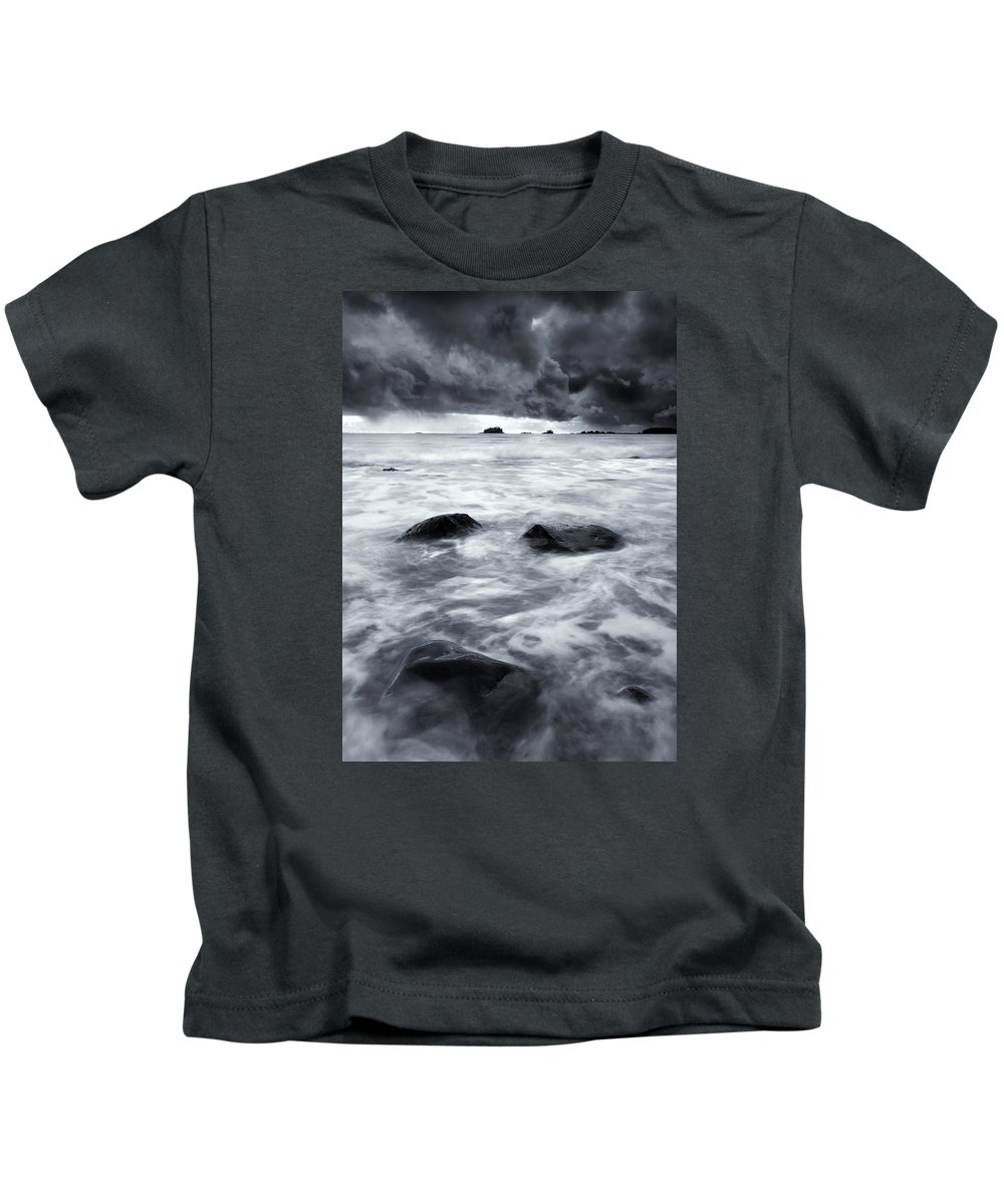 Sitka Kids T-Shirt featuring the photograph Turbulent Seas by Mike Dawson