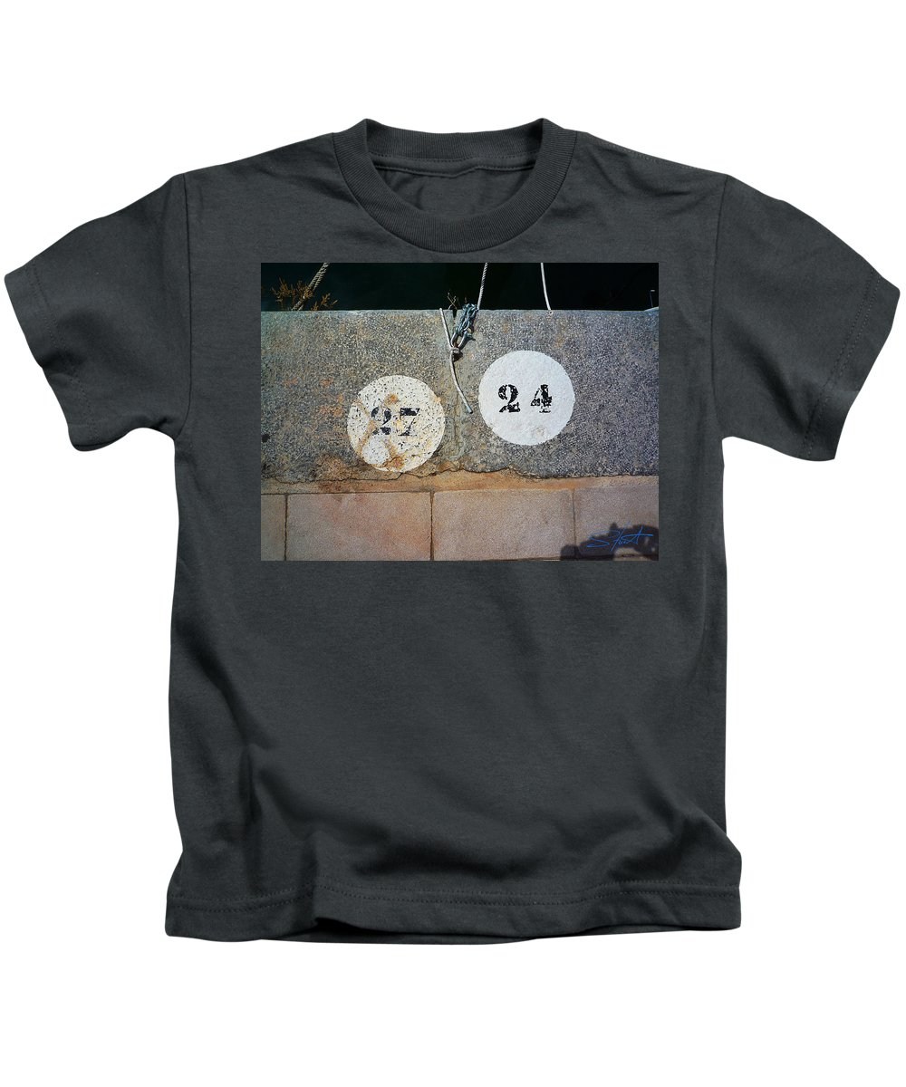 Number Kids T-Shirt featuring the photograph Twenty Four by Charles Stuart