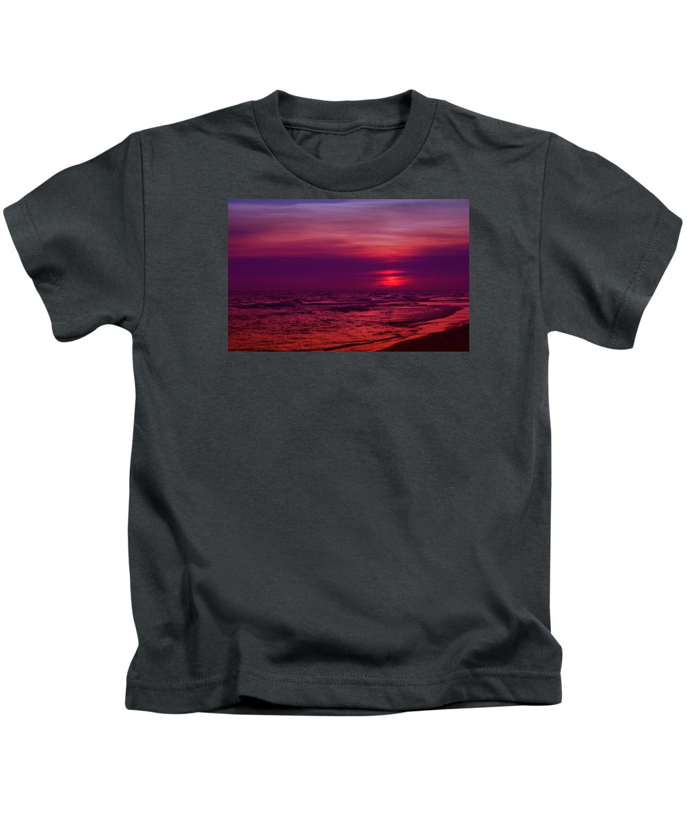 Panama City Beach Kids T-Shirt featuring the photograph Twilight by Sandy Keeton