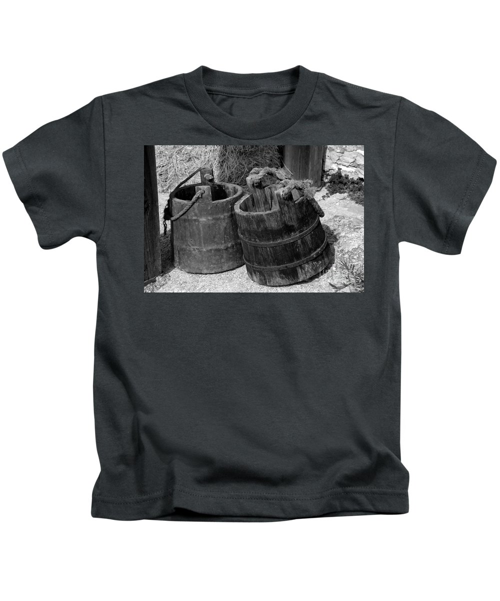 Pales Kids T-Shirt featuring the photograph Two Old Pales by David Lee Thompson
