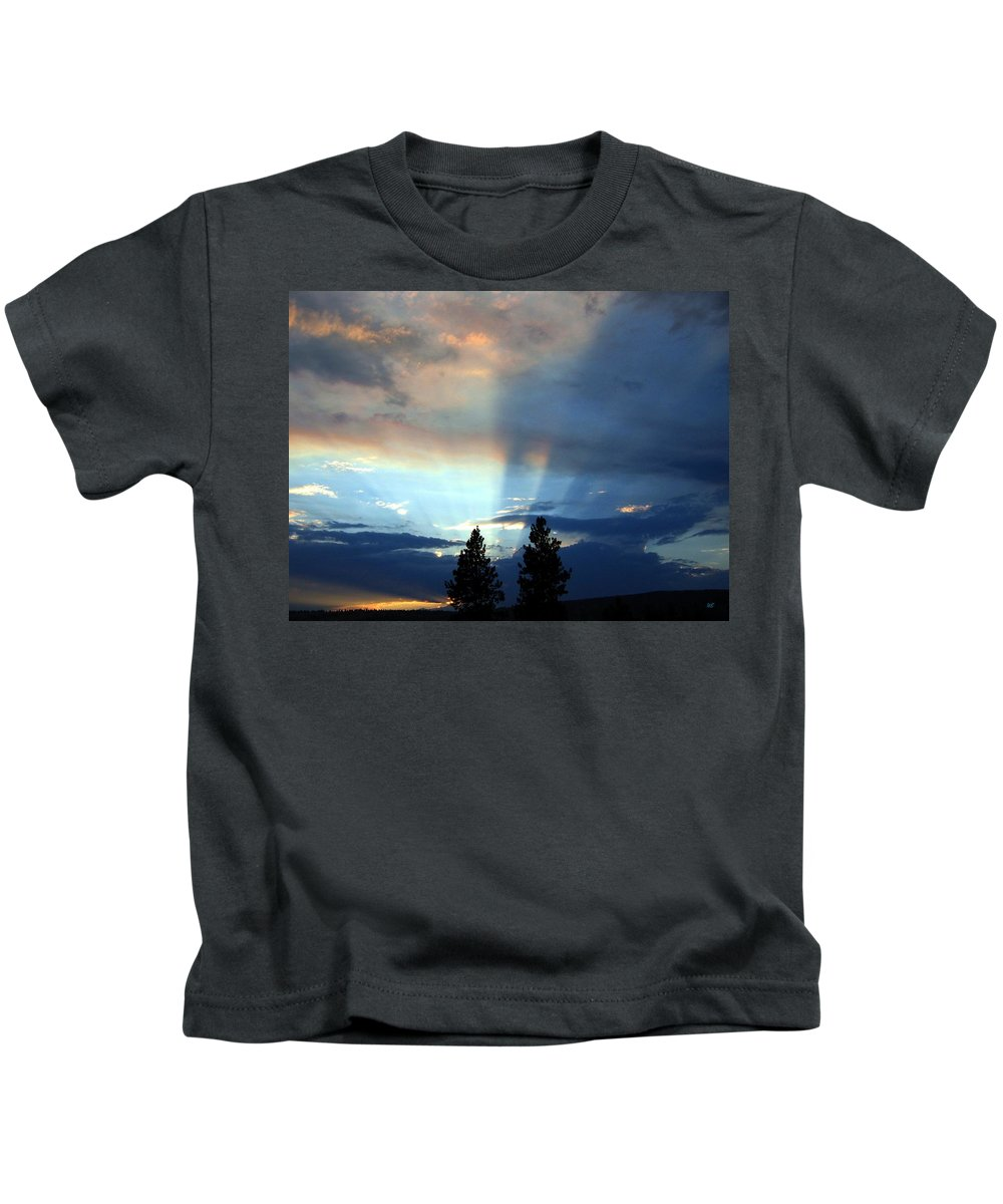Sunset Kids T-Shirt featuring the photograph Two-pine Sunset by Will Borden