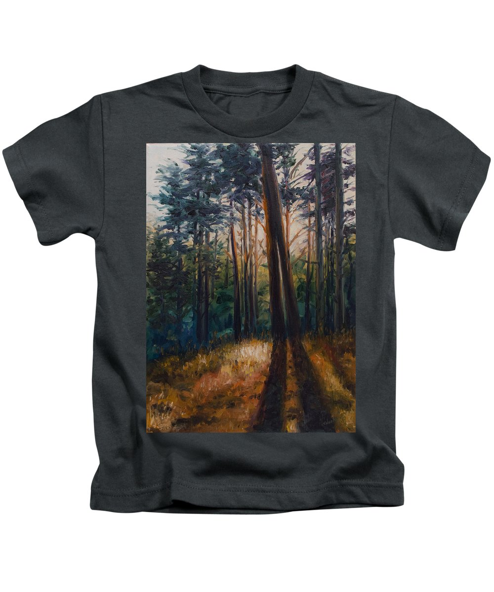 Trees Kids T-Shirt featuring the painting Two Trees by Rick Nederlof
