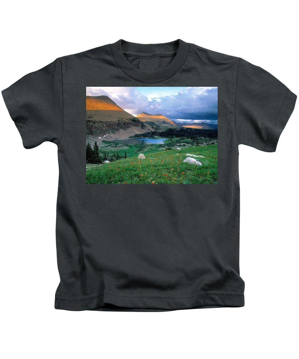 Uinta Wilderness Kids T-Shirt featuring the photograph Uinta Wilderness by Leland D Howard