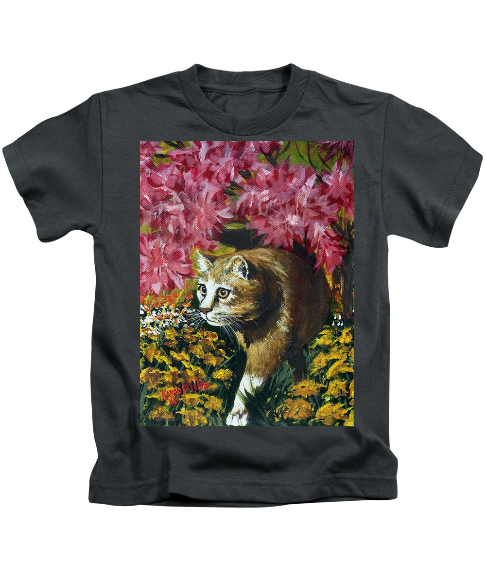 Art Kids T-Shirt featuring the painting Under The Azaleas by Karon Melillo DeVega