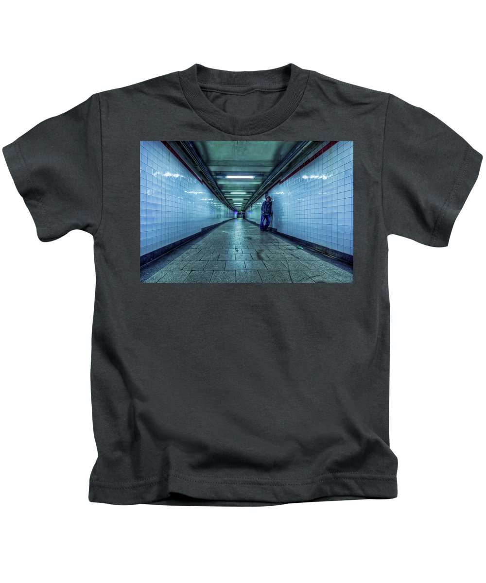 Subway Kids T-Shirt featuring the photograph Underground Inhabitants by Evelina Kremsdorf