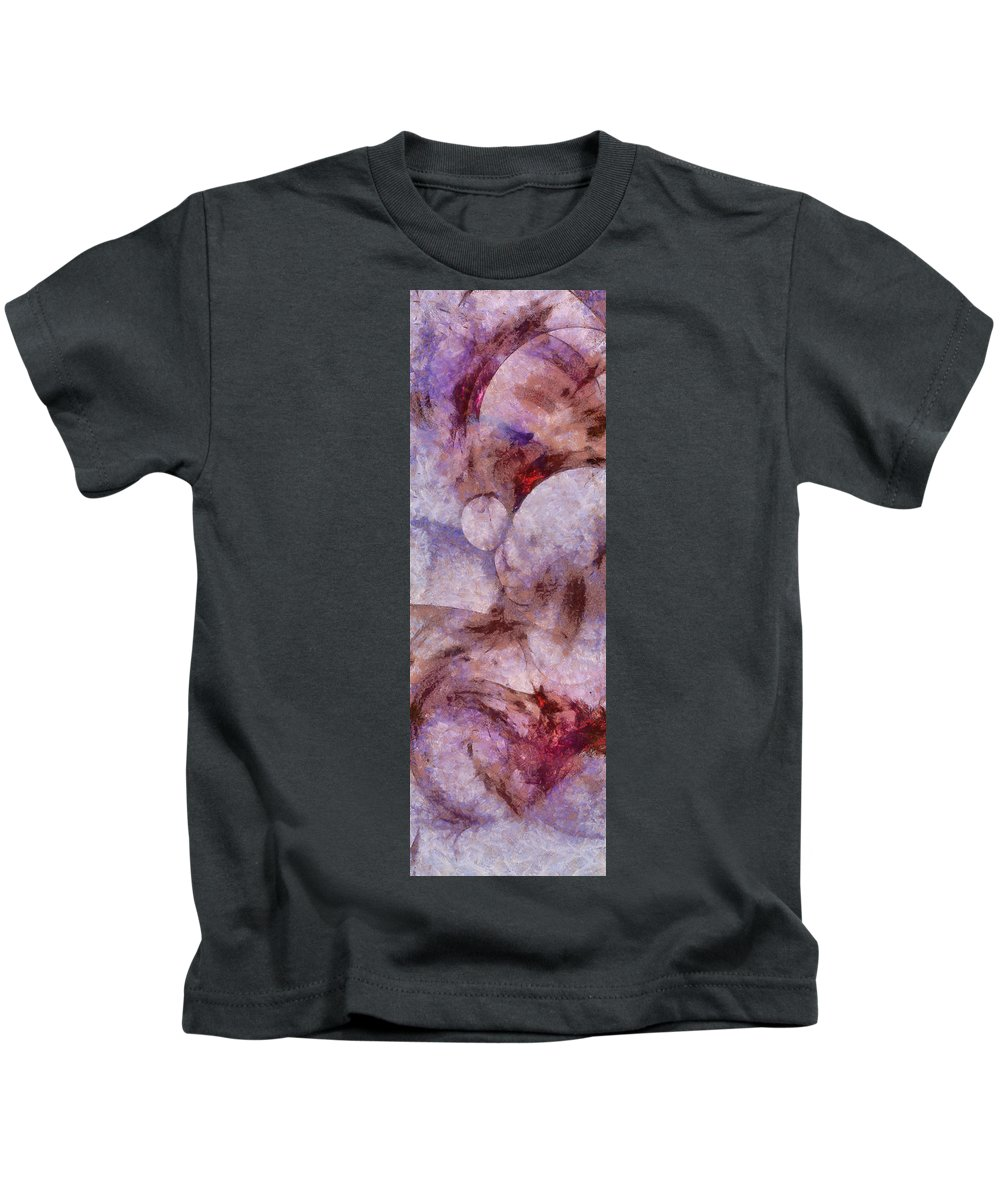 Imagined Kids T-Shirt featuring the painting Unlampooned Fineness Id 16099-043046-41250 by S Lurk