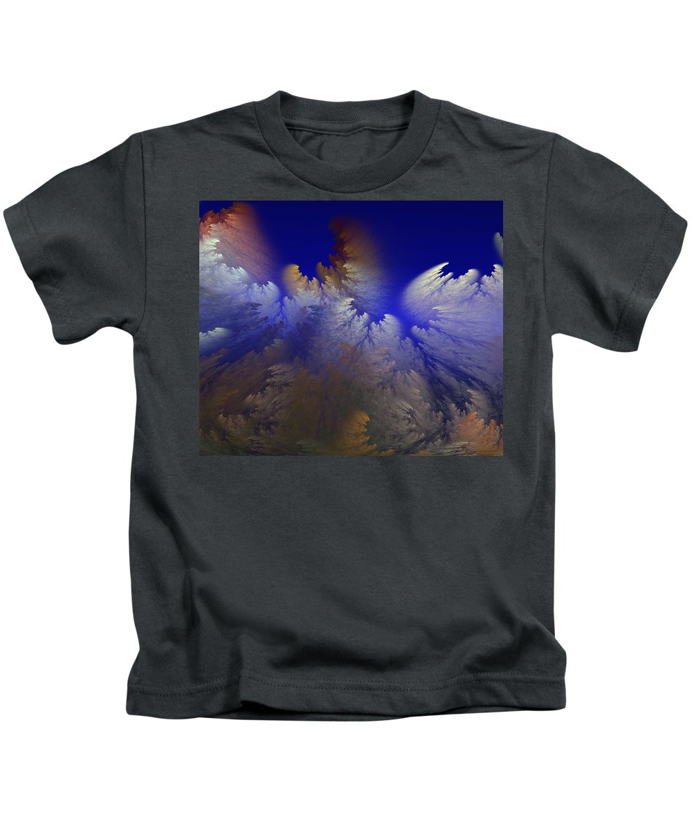 Abstract Digital Painting Kids T-Shirt featuring the digital art Untitled 11-1-09 by David Lane