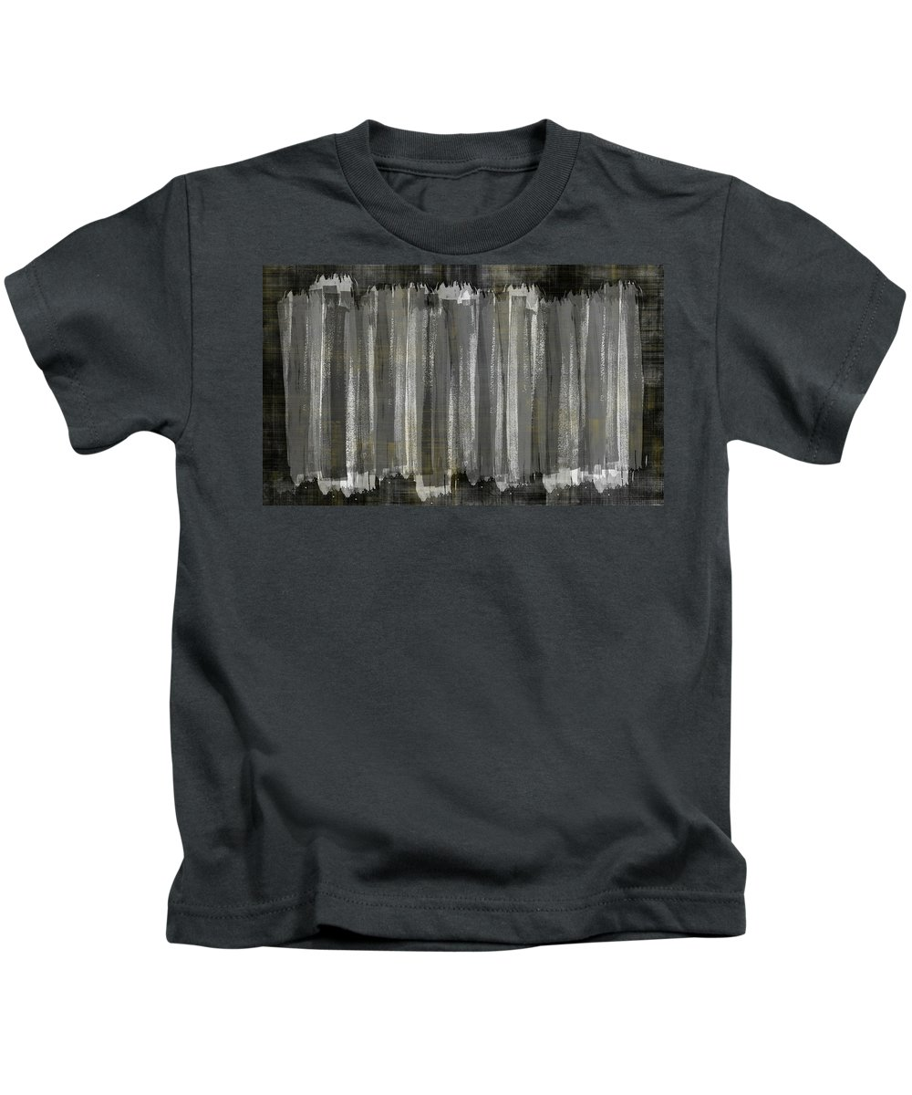 Lines Kids T-Shirt featuring the painting Untitled No. 36 by Julie Niemela