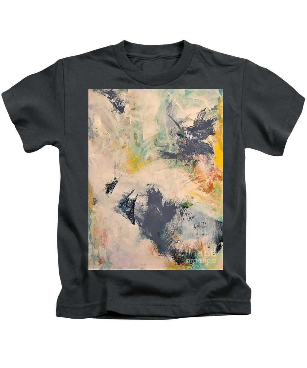 Gray Kids T-Shirt featuring the painting Up A Tree by Kate Speer Ely