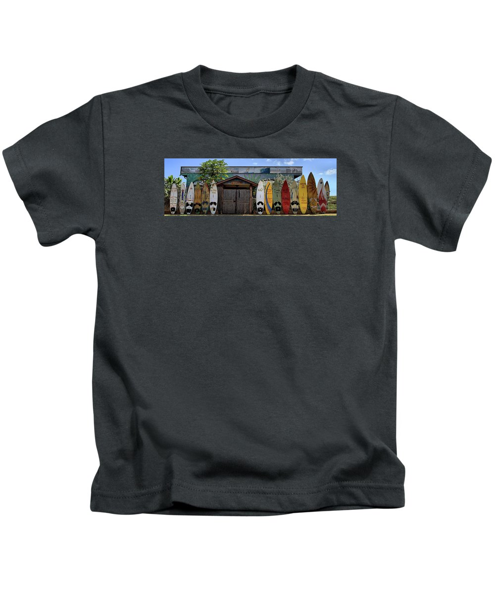 Maui Kids T-Shirt featuring the photograph Upcountry Boards by DJ Florek