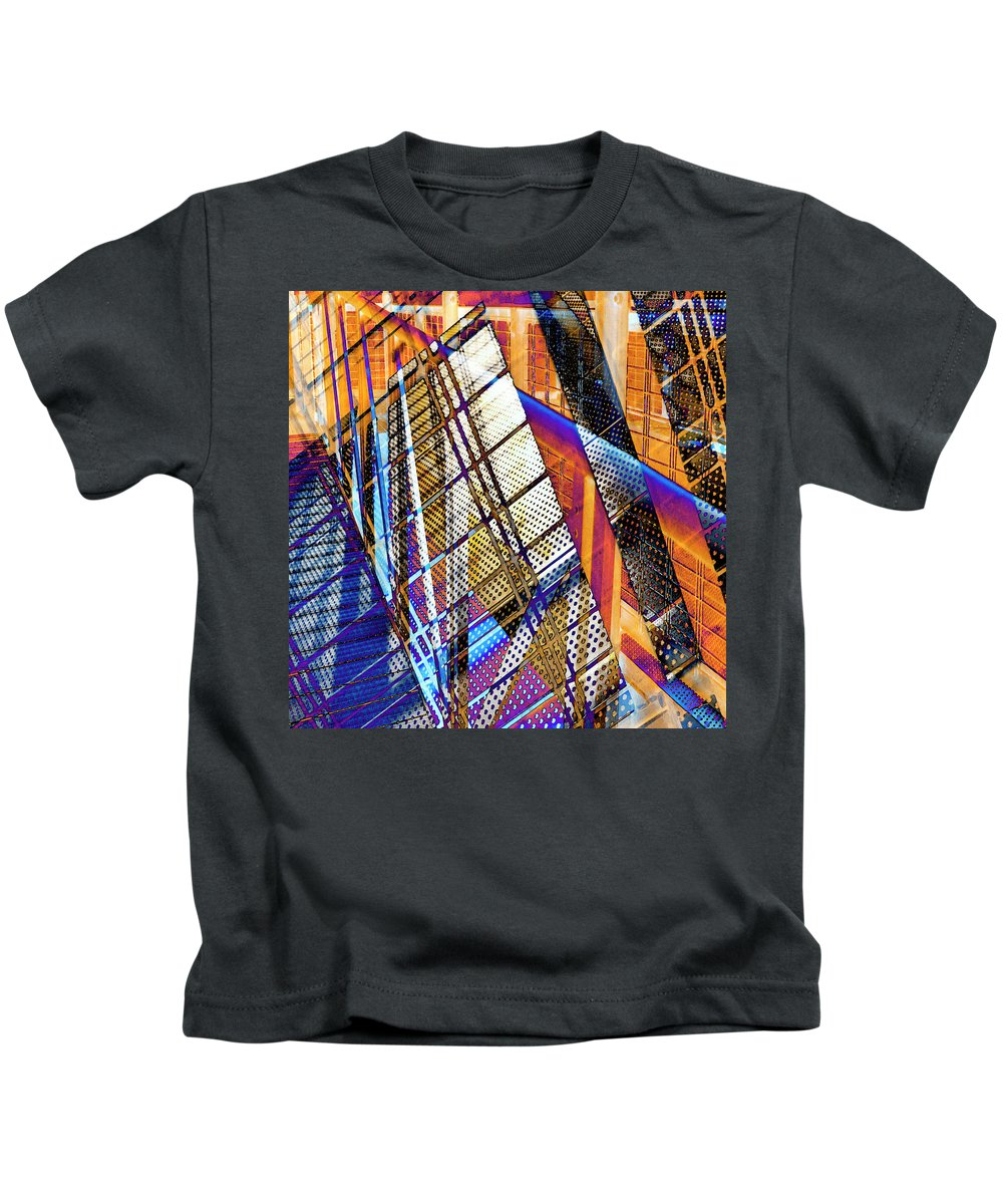 City Kids T-Shirt featuring the photograph Urban Abstract 157 by Don Zawadiwsky