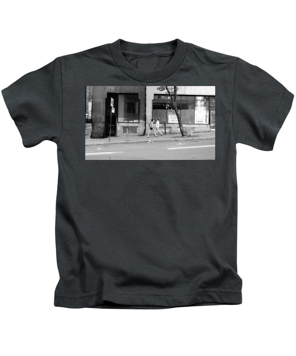 Urban Kids T-Shirt featuring the photograph Urban Encounter by Valentino Visentini