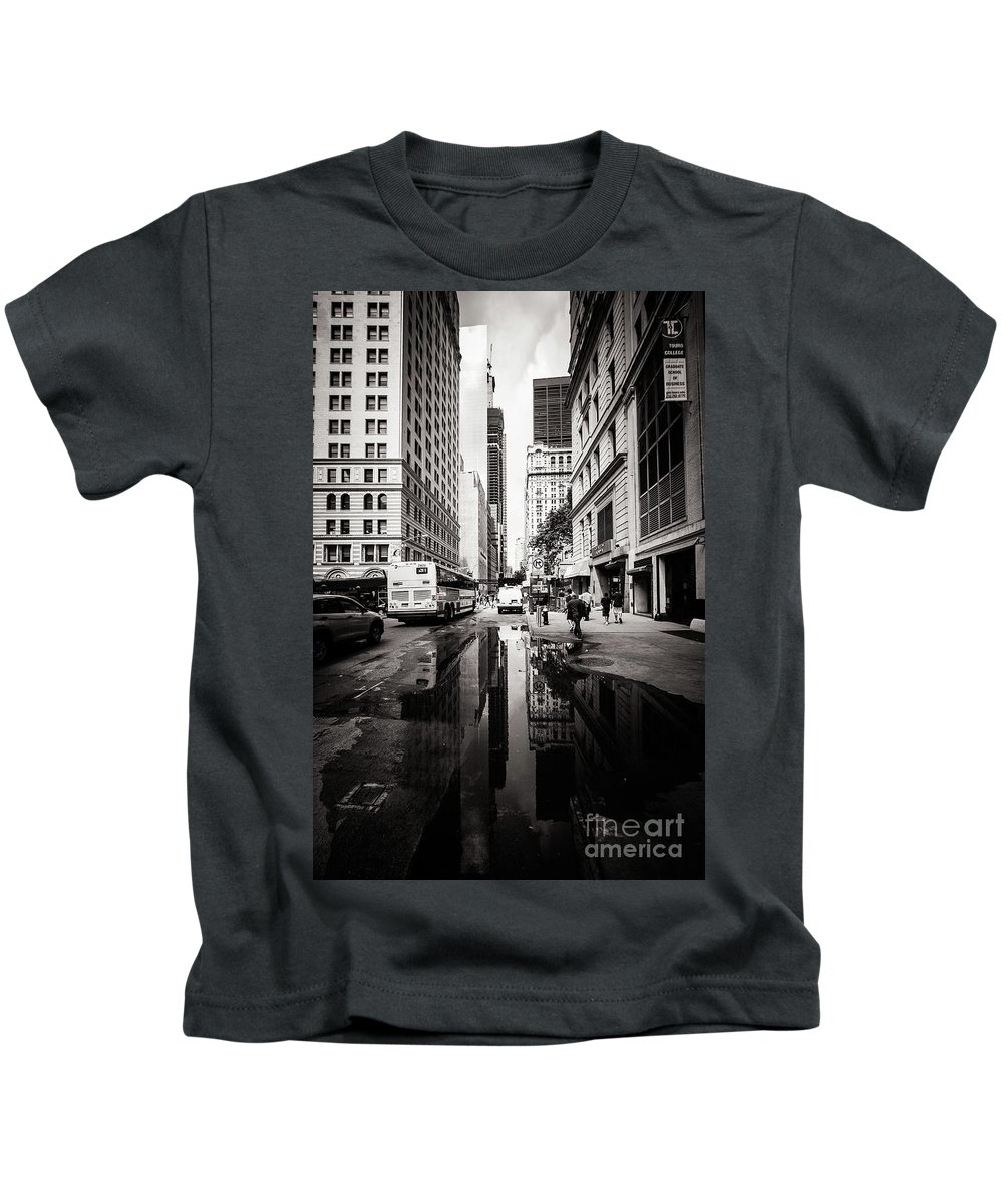 New York Kids T-Shirt featuring the photograph Urban Reflections by Mirko Chianucci