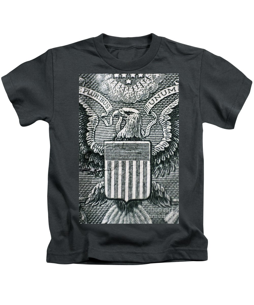 Dollar Kids T-Shirt featuring the photograph Us Dollar Eagle by Dan Radi