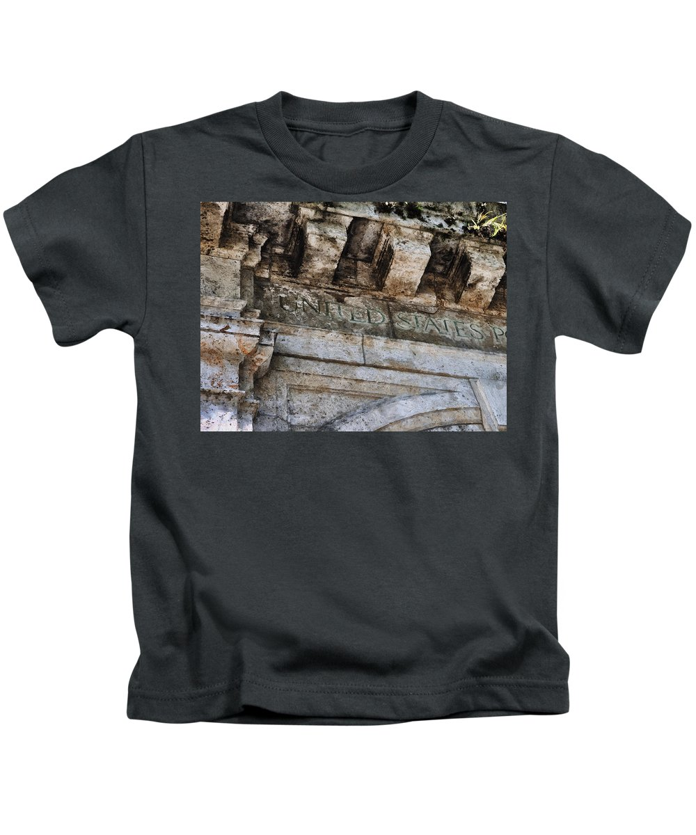 Evie Carrier Kids T-Shirt featuring the photograph Usps Two by Evie Carrier