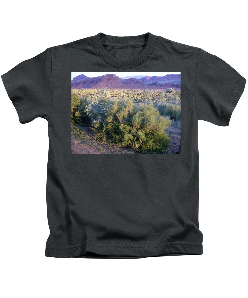 Utah Kids T-Shirt featuring the photograph Utah Sunset by Mary Rogers