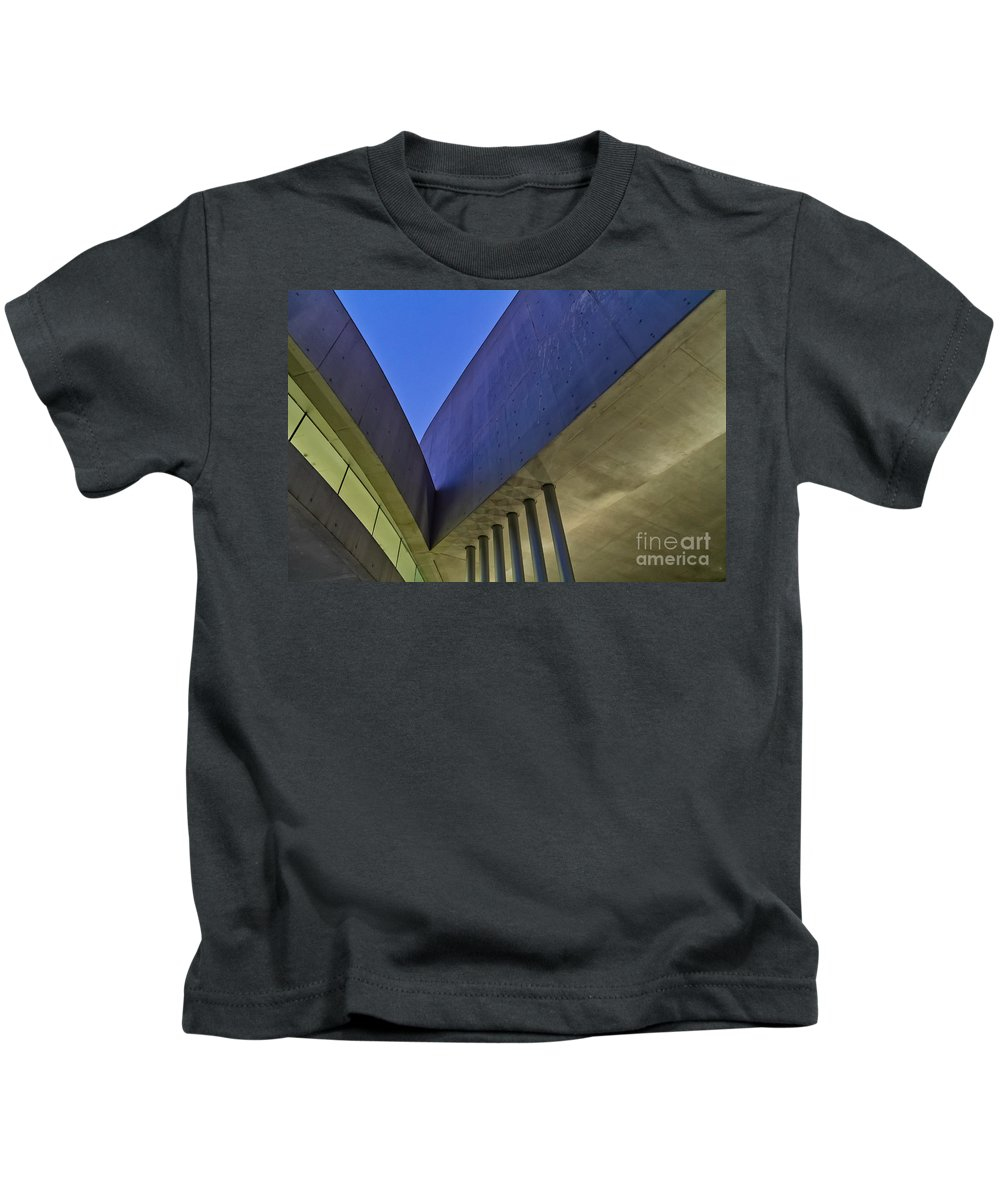 Architecture Kids T-Shirt featuring the photograph V Shape by Martine DF