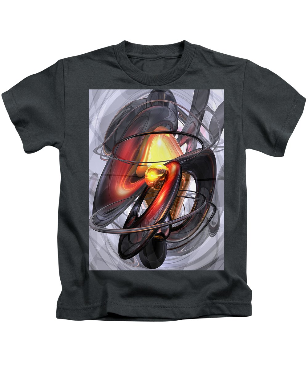 3d Kids T-Shirt featuring the digital art Vengeance Abstract by Alexander Butler